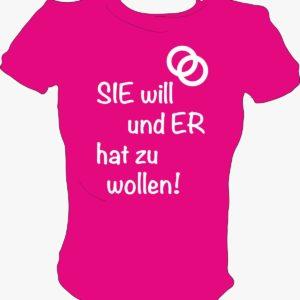 Damenshirt 1 Sie will